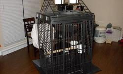 """Selling our large parrot cage. It is in good condition and would make any parrot happy! It's cage dimensions are 24""""W x 22""""D x 32""""H so it is fairly large. The entire cage stands 63"""" tall with the stand and playstand. There is also an additional toy hook"""