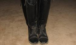 Leather field boots Size 7 Good Condition   $75.00 OBO