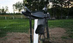 I have 16 inch black saddle like new , 71/2 gullet $300.00 I have 15 inch brown leather saddle ,  7 gullet $ 280.00   Would be willing to trade 1 of these saddles for a 15 or 16 inch tan coloured saddle.  Call Tammy 613-551-0139