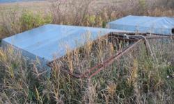 Two Welded metal frame pens with wire and tarp coverings (2/3/ of the pen).  Can be moved easily using the attached wheels.    Size:   10 X 11 feet.    Pens can accommodate 15 to 25 birds comfortably.  Please call in the evening 780 835-3859