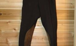 "Girls or Ladies Chocolate Breeches - Very Very Nice!!!!! There is no size tag on them but the waist measures 23"" These are gorgeous breeches and super comfy to wear!! I wish I still fit them I don't think they make them like this anymore. They are in new"