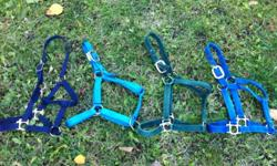 Used/New Halters in good condition. Med & Full size. Asking $10 - $15 ea. Located between enderby and salmon arm. This ad was posted with the Kijiji Classifieds app.