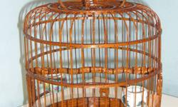 THIS IS A BEAUTIFUL CAGE FOR ANY CANARY OR FINCH ,ITS BRAND NEW NEVER BEEN USED COMES WITH VERY RARE PORCALEN DRINKER/FEEDER GORGEOUS ENGRAVING AND CARVING A MUST SEE TO APPRICIATE ..THE PICTURES WILL DO ALL THE TALKING .MEASURMENTS ARE 14 INCHES HIGH AND