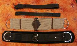"Getting out of riding and training and have some items for sale.   Wool cinch 26"" never used $15.00 Neoprene Cinch 28"" $15.00 Black leather latigo 74"" like new and supple $12.00 SOLD Black leather off billet like new and supple $12.00 SOLD SMOKY rubber"