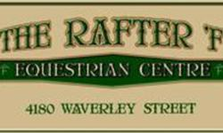 COME AND CHECK OUT THE NEWLY DECORATED AND UPGRADED FACILITIES THE RAFTER F EQUESTRIAN CENTRE 4180 WAVERLEY STREET WPG,MB PH 261-2356 LARGE BOXSTALLS NEW FENCES AND TURN OUT 2 ARENAS TONS OF TRAILS LESSONS & PACKAGES ENGLISH & WESTERN POLO