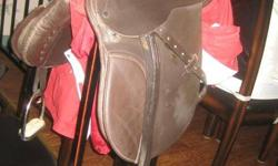 I have some horse tack for sale- 1 16inch english saddle. 125 obo 1 14inch english saddle( no leathers or irons) 70 obo 1 set of leathers and irons- 15 obo 1 pony bridal( bit not included) 5 dollars 3 46 inch english girths 10 each both for 15 1 81inch