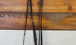 Picture 1-2 Brown Rubber Reins asking $15 Picture 3-4 Brown leather laced reins asking $15