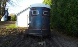 For sale a two horse tag along Mc Bride trailer. Needs work
