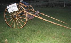 Horse wagon bought over a year ago. was sanded and re varnished when bought. size of wheels is 48''. Reason for selling sold horse and have no room for it. asking 1000$ OBO. Needs to go asap