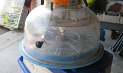 Incubator works great holds about 15 to 20 eggs was used for parrots eggs and brooder asking $130