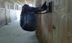 """Selling my Kieffer/Schleese Dressage Saddle. $600 firm. 17.5"""" seat. Dark brown in colour (was dyed black; faded to dark brown). Medium size tree. Used but in excellent condition. Call or text if interested. You can also e-mail. Thanks."""