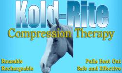 KOLD-RITE COMPRESSION THERAPY WRAPS FOR HORSES   ? KOLD-RITE ® Compression Wraps are made of stretchable polyurethane foam that is saturated with 96% water based gel that cools at room temperature. The gel-imbedded wrap evaporates water to simultaneously