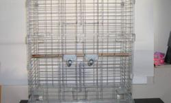 I have a large Hagen bird cage in excellent condition. Dishes and accessories included. This cage would be great for love birds, cockatiels, parrotlets etc.