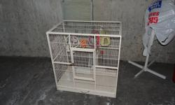 I have a cage that I dont need it anymore. 100 dollars in good shape include toys,dishes,perch. hurry up good deal. monteiro