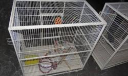 I have one nice large cage one left for sale. good for small and big birds. $85 dollars. 30''x30'' inches front 18'' inches side thanks