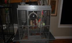 I have a very large parrot cage for sale with measurements as follows. 27 width by 22 depth by 37 length (cage only)It also has large playtop and trolley with a shelf on the bottom.  It is an excellent quality cage made by Avian Adventures and is in