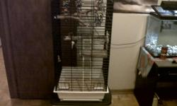 Selling a large parrot cage I had bought and cleaned up a month ago. It is full of new never used toys and perches. Everything inside is all brand new never used. I have no use for it all as I did not buy the bird I wanted. You get the cage , new large