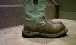 size 8 1/2 has a smaller fit like a size 8 lime green tops Rocky brand $50.00 OBO