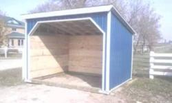 WE ARE BRINGING BACK THE GST AND TAKING IT OFF . MENTION THIS AD AND SAVE THE GST. ON ALL HORSE SHELTERS .       FYI WE DO STEEL ROOFING TOO! GET A SAME DAY QUOTE. Built Right , Built to Last . With 6x6 Preasure Treated base,2x6 framing ,metal corner trim