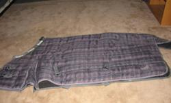 Masta horse blanket Purple plaid Size 74 Only used for one season Great condition   $150.00 OBO