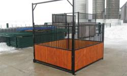 Introducing our new product, miniature horse stalls! These light weight panels feature our signature quick connect system, making it simple to set up a stall in only minutes! The channel design makes installing wood a breeze! The stall door swings and is