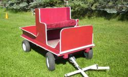 Patty's Pony Place is currently building a miniature horse wagon - can be built as a single seat, double seat or wagonette. Will build to suit. Your choice of colour. Pole, double tree, and neck yoke included. Base price is $1300 - sleigh runners are an
