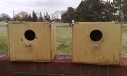 SELLING NEST BOXES   GOOD FOR QUAKER, INDIAN RINGNECKS, AND OTHER SIMILAR BIRDS   IF INTERESTED PLEASE CONTACT 416-827-6699