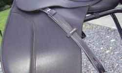 """Brand new Bates Wintec 18"""" dressage saddle with CAIR, includes Wintec synthetic leathers and Wintec heavy cordura zippered and padded saddle bag/carrier. Has interchangeable gullet system, black (Medium) gullet is now installed. Please look at other ads,"""