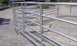 !!!  NEW GALVANIZED ROUND PENS!!    !!!! ONLY 1 PEN LEFT  !!!   TILL SPRING 2012                                     VISA & MASTER CARD ACCEPTED   60' ROUND PEN Reg. $2,195.00 Sale  $1,995.00    ALL PENS INCLUDE  GATE  4' X 8'   4' X 8' GATE $125.00