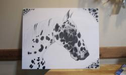 I am offering to paint a picture or even just take pictures of your horse,dog or cat. if you would like one done i can either come and take a picture and use that or if you have one you like i can go from that. i specialize in head shots but can do many