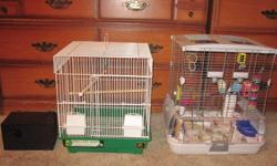 Hello! I am selling a male and female budgie, Along with the birds you will recieve multiple bird toys, TWO bird cages, bird food, nesting box, bird gravel, and bird treats. Asking 80 firm; spent well over 200$ so no trying to adjust the price. Reason for