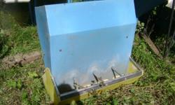 We have 4 heavy duty pig feeders for sale. Each holds about 5+ bu.  - $85 ea. 306-372-7525