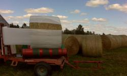 Very nice and clean hay made this year in dry weather with no rain on bales when made or before wrapped...bone dry.   Timothy and fescue hay in 5 x 4 foot hard center round bales with approx 800 lbs of hay in each. These are larger than most of the other