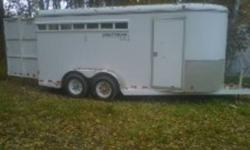 I have decided to sell this great little trailer as i currently need a 4 horse.  This trailer is in good shape and is nice and light to haul.  Has inserts to enclose it and the dividers are removable to give you the stock trailer set up for mare and foal,