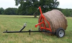 Bale Buddy Round Bale Mover, has been modified to easily move, load/unload round bales up to 1800 lbs.   Perfect for moving round bales when you don't have a tractor! Use your pickup or quad.   These are very hard to find and we have now moved, so it's