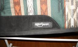 """Brand new Reinsman saddle pad 31"""" long by 33"""" wide. Used 2 times will fit high withered horse, see pics 705-341-4532 90.00 obo. Cost me 150.00 with taxes. No wear on it at all, bought at Horse & Hound Lindsay"""