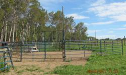 Round Pen Panels: Enough for a 45' Round Pen with 2 Walk-thru gates. 10 - 10',  2 - 12'  and 2 walk thru gates.  These panels were made at Peace Fab. - Hythe, AB.