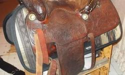 """I am offering for sale a beautiful Price Mclaughlin Saddle, 15"""". This is the cadillac of all saddles. It is original. The only reason I am selling this saddle is because it is a very heavy saddle and my mare has arthritis in her front legs and I bought"""