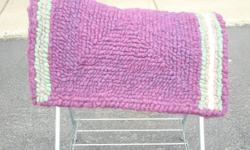 Hand hooked wool saddle pads