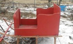 Just in time for Christmas we have a Santa sleigh for sale. It is in brand new condition. It has been out only a couple times since I have completly rebuilt it and has been used in a photoshoot. Pulls very easy, good for one horse, or pony, or maybe even
