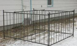 7'x7' collapsible sheep feeders, 7 inch spacing. $375.00.  Also quick-latch sheep gates, any lenght, 35 inch high with hinges and quick latch.  $9 per foot.  Please call 204-425-3496