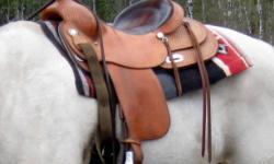 Silver Supreme reining saddle. 16inch seat. Full quarter horse bars.  $950. Phone: 250-296-9084