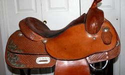 "Custom made Silver Supreme show saddle. great condition 16"" seat full QH bars. silver on the fenders. Fancey enough for the show ring but great for every day to open to reasonable offers Reason for selling going to buy my kids a saddle."