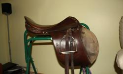 Stubben 18' close contact saddle for sale. Comes with stirrup leathers and stirrups. $500.00 OBO.