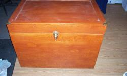 Brown Tack Box,Brass corners,side handles,casters.Excellen conditon.ph 902 883-8164.