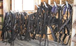 Fully reconditioned Horse Harness , various adjustable sizes. Harness $400.00 - Lines $50.00 - Bridles $50.00. Come have a look. Call 682-5104 Humboldt