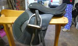 Well used youth saddle  Comes with the stirrup leathers and irons  Hoping someone will have some use for it  Saddle needs some cleaning  Asking $60   SALE PENDING