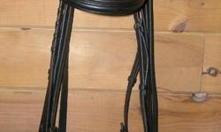 Purchased in June 2011 it's been used lovingly, oiled and moisturized monthly, and stored in heated tack room. In perfect, like-new condition only better because it's oiled and soft leather now! WB size - used on my Clyde/TB but sold my mare, and sadly it