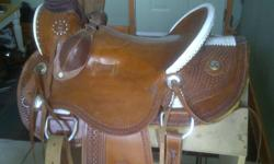 16'' wade saddle used about dozen times never roped off was going to try roping but changed my mind,price is firm