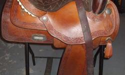 Simco western saddle, excellent condtion. Semi quarter horse bars, 16 inch seat. Reason for selling is that is does not fit my horse properly.